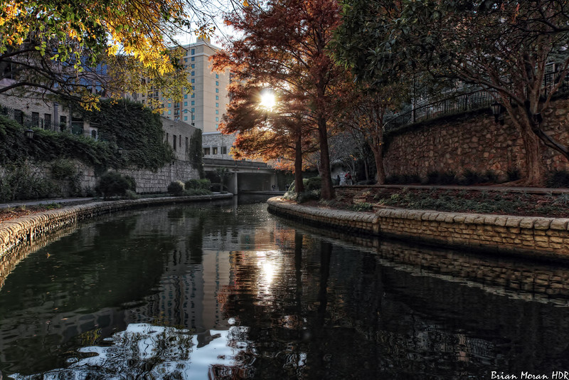 """Just prior to sunset at a bend in the Museum Reach portion of the Riverwalk, located in San Antonio, Texas.<br /> <br /> For more on this photo, please visit my blog post:<br /> <br /> <br />  <a href=""""http://brianmoranhdr.blogspot.com/2011/01/museum-reach-bend.html"""">http://brianmoranhdr.blogspot.com/2011/01/museum-reach-bend.html</a>"""