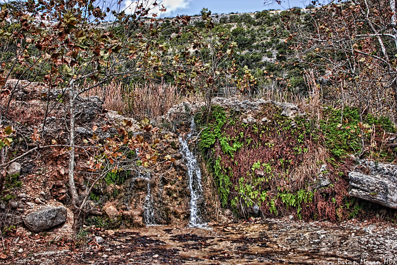 Waterfall at Lost Maples State Natural Area near Vanderpool, Texas