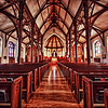 Interior shot of St. Mark's Episcopal Church, located in San Antonio, Texas