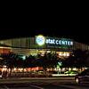 Night shot of the ATT Center in San Antonio, Texas, following the first San Antonio Rampage game of the 2010-2011 season.