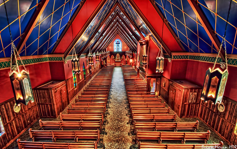 """Interior shot of """"Our Lady of The Atonement"""" Catholic Church, 15415 Red Robin Road, San Antonio, Texas"""