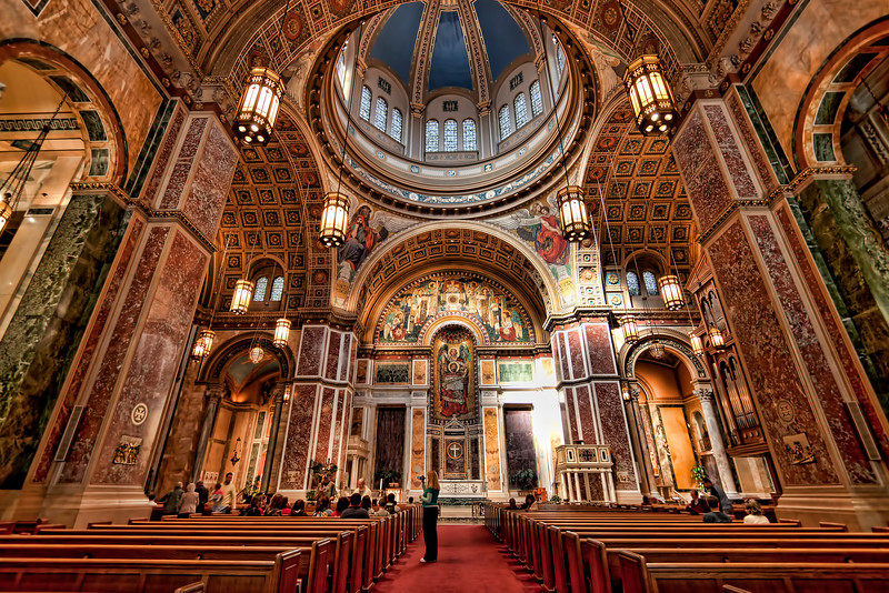 Interior shot of St. Matthew's Cathedral, Washington DC