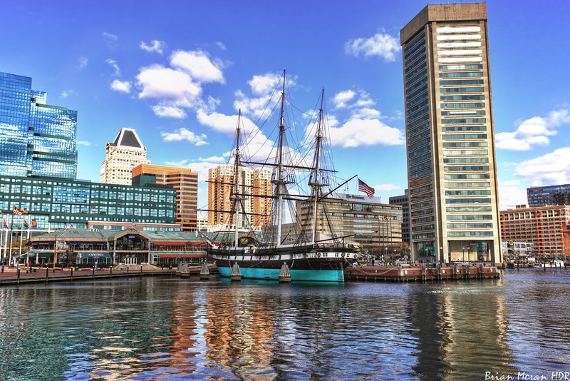 """The USS Constellation in the Inner Harbor of Baltimore, Maryland.  <br /> <br /> For more on this photo, please visit my blog post:<br /> <br />  <a href=""""http://brianmoranhdr.blogspot.com/2010/12/uss-constellation-in-inner-harbor.html"""">http://brianmoranhdr.blogspot.com/2010/12/uss-constellation-in-inner-harbor.html</a>"""