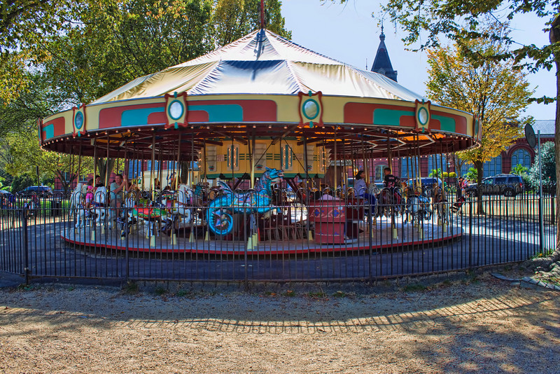 The carousel on the National Mall in Washington DC