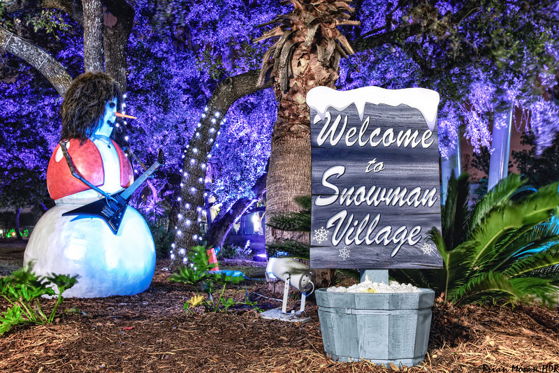 """""""Welcome to Snowman Village"""" on display as part of the Christmas Celebration at SeaWorld San Antonio in San Antonio, Texas.<br /> <br /> For more on this photo please visit my blog post:<br /> <br /> <br />  <a href=""""http://brianmoranhdr.blogspot.com/2010/12/welcome-to-snowman-village.html"""">http://brianmoranhdr.blogspot.com/2010/12/welcome-to-snowman-village.html</a>"""