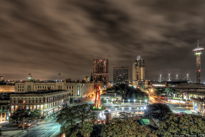 """A reprocessed version of the San Antonio skyline as viewed from the parking garage behind the Casa Rio restaurant in San Antonio, Texas.<br /> <br /> To read more about this photo, please visit my blog post:<br /> <br /> <br />  <a href=""""http://brianmoranhdr.blogspot.com/2011/04/reprocessed-parking-garage-skyline.html"""">http://brianmoranhdr.blogspot.com/2011/04/reprocessed-parking-garage-skyline.html</a>"""