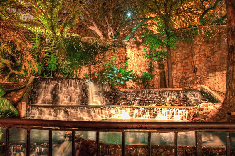 This is probably the most important part of the Riverwalk. This waterfall provides the main circulation for the water in the Riverwalk.