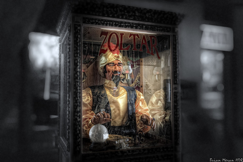 """Zoltar, the fortune teller machine, (as seen in the film """"Big"""" starring Tom Hanks) located in the Buckhorn Museum and Saloon and Texas Ranger Museum in San Antonio, Texas.<br /> <br /> For more on this photo please visit my blog post:<br /> <br /> <br />  <a href=""""http://brianmoranhdr.blogspot.com/2011/03/zoltar.html"""">http://brianmoranhdr.blogspot.com/2011/03/zoltar.html</a>"""