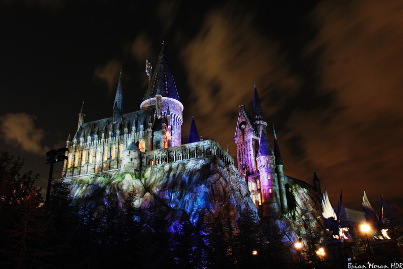 """Night shot of Hogwarts Castle at Universal Studio's Islands of Adventure located in Orlando, Florida.<br /> <br /> If you would like to read more about this photo, please visit my blog post:<br /> <br /> <br />  <a href=""""http://brianmoranhdr.blogspot.com/2011/05/hogwarts-day-and-night.html"""">http://brianmoranhdr.blogspot.com/2011/05/hogwarts-day-and-night.html</a>"""