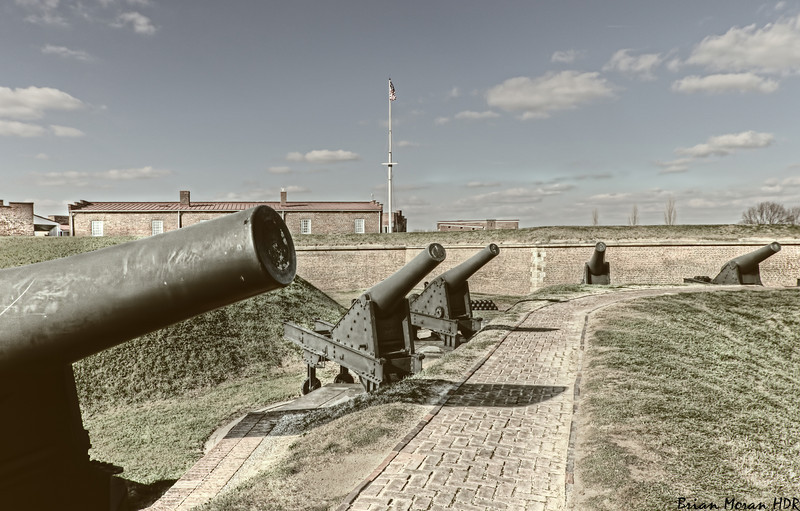 """Canons outside of Fort McHenry, located in Baltimore, Maryland.<br /> <br /> For more on this photo, please visit my blog post:<br /> <br /> <br />  <a href=""""http://brianmoranhdr.blogspot.com/2011/01/fort-mchenry-canons.html"""">http://brianmoranhdr.blogspot.com/2011/01/fort-mchenry-canons.html</a>"""