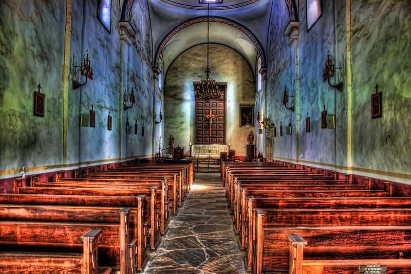 This photo is of the interior of Mission San Jose, located in San Antonio, Texas