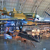 Curtiss P-40E Kittyhawk and SR-71A Blackbird at the Steven F. Udvar-Hazy Center, Smithsonian Air and Space Museum, located near Dulles International Airport near Washington DC.