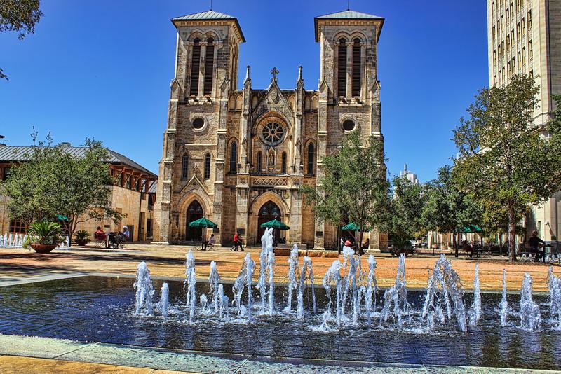 Exterior shot of San Fernando Cathedral, San Antonio, Texas