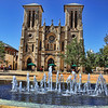Exterior shot of San Fernando Cathedral, San Antonio, Texas