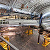 "The B-29 ""Enola Gay"" that dropped the atomic bomb on Hiroshima, Japan, which led to the end of World War II. The aircraft is on display at the Steven F. Udvar-Hazy Center, Smithsonian Air and Space Museum."