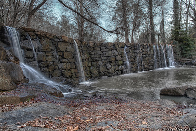 Vantage point in front of the Old Mill Dam, located in Cedarock Park in Burlington, North Carolina.  If you would like to read more about this photo, please visit my blog post:   http://brianmoranhdr.blogspot.com/2013/01/old-mill-dam-burlington-north-carolina.html