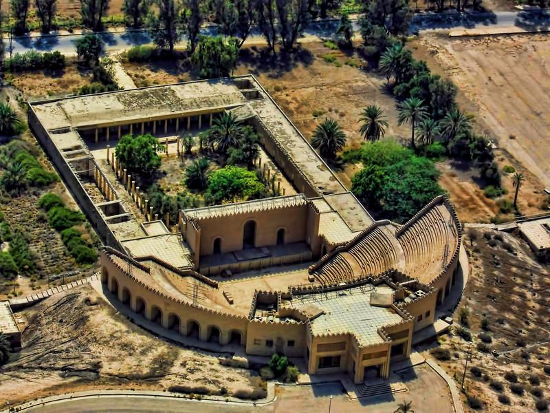 Amphitheater ruins in Babylon, Iraq