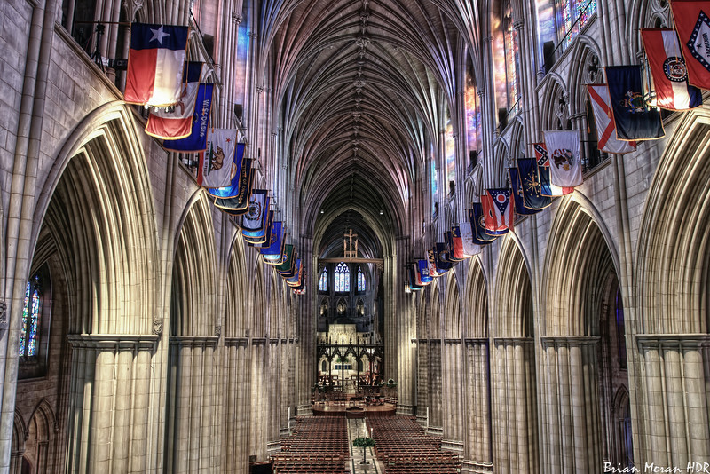 """Interior shot of National Cathedral, located in Washington DC.<br /> <br /> For more on this photo, please visit my blog post:<br /> <br />  <a href=""""http://brianmoranhdr.blogspot.com/2010/12/national-cathedral.html"""">http://brianmoranhdr.blogspot.com/2010/12/national-cathedral.html</a>"""