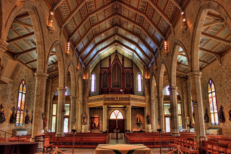 Inside San Fernando Cathedral, San Antonio, Texas