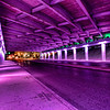 "Purple ""Light Channels"" on Commerce Street near downtown San Antonio. Part II of V."