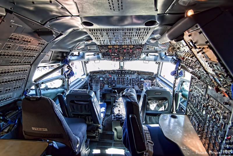 The cockpit of the NATO E-3 Sentry (AWACS) on display at Lackland AirFest 2010.