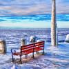 Gills Rock Dock In Winter