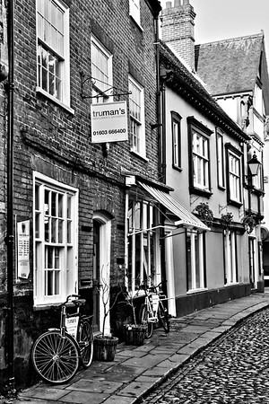Exterior of Trumans Gentlemen's Groomers, Elm Hill, Norwich