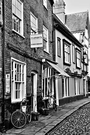 Exterior of Trumans Gentlemen's Groomers, Elm Hill, Norwich