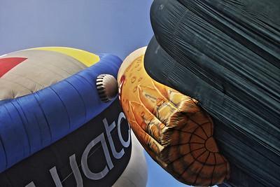 Character Balloons at the Headcorn Areodrome Balloon Event 2013