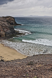 Papagayo Beach on cloudy a day