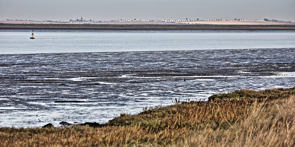 View over The Swale to the Isle of Sheppy