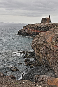 Castillo de las colotadas on headland, Lanzarote