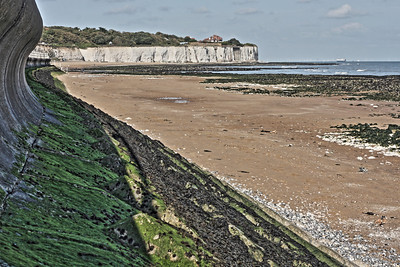 Stone Bay Beach at low tide in Broadstairs, kent