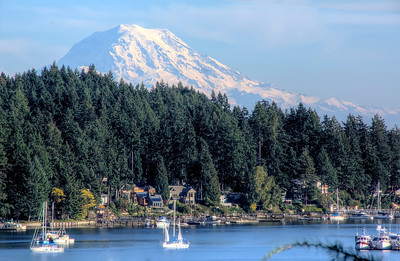 Mt. Ranier as seen from Gig Harbor, Wa.