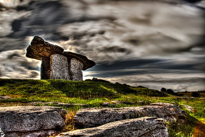 Ireland Poulnabrone Dolmen long exposure HDR