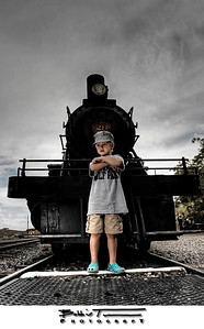 Lil Buddy with No. 29 on the V&T - Virginia City, NV