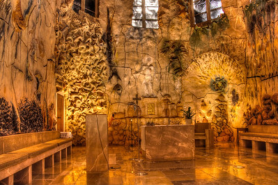 A modern section of the Cathedral of Santo Maria in Mallorca, Spain designed by Antoni Gaudi in the in the 1940's. The Cathedral was started in the 1200's and finished in 1601.