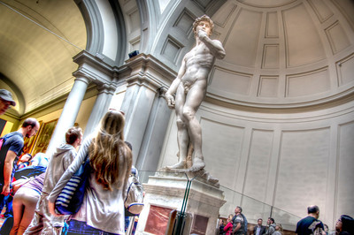 Michelangelo's David, Florence, Italy.
