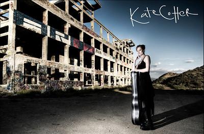 Musician Kate Cotter at American Flats, Nevada