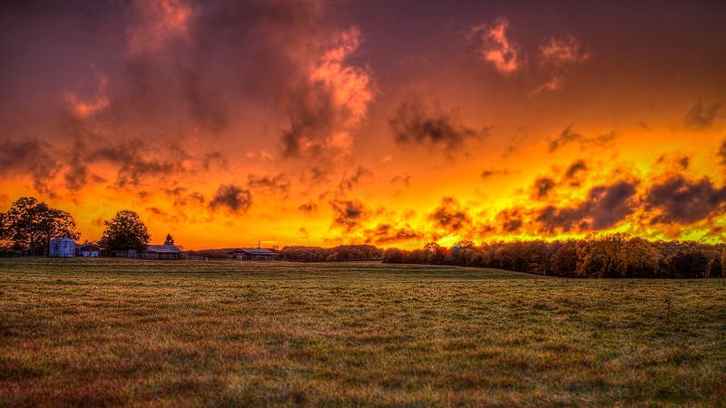 Union  County Sky On Fire
