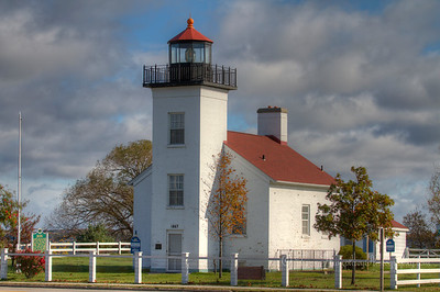 Front of Sand Point Lighthouse