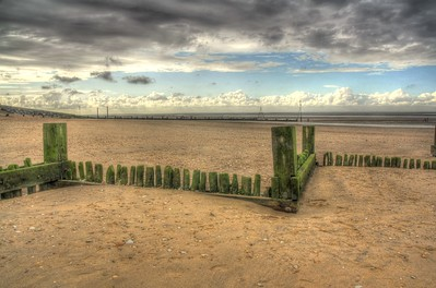 The beach at Hunstanton