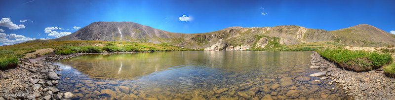 Panorama of Murry Lake, off the Silver Dollar Lake trail.