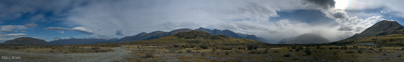 Panorama from the parking area for Mt. Sunday (Edoras). Shot this in HDR, thought it would be great. Once again high winds made some of the shots blurry.