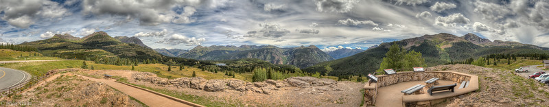 My huge Molas pass HDR panorama. It's about a 180 deg view.