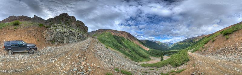 360 Panorama near the bottom of Ophir pass.