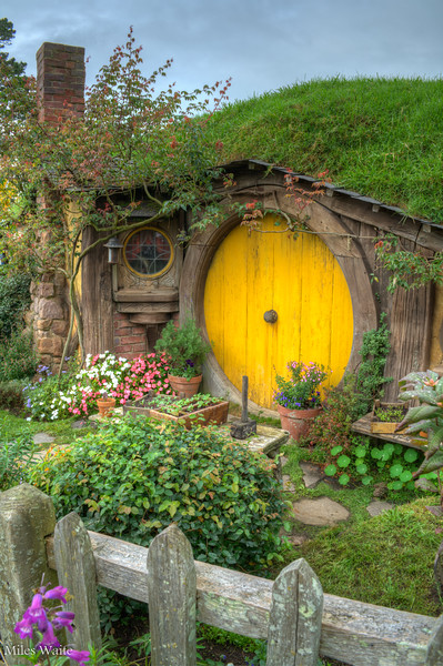 I love the details around the Hobbit homes. They look lived in.
