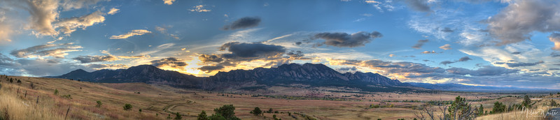 Sunset over the Foothills. Taken just south of Boulder, Colorado.