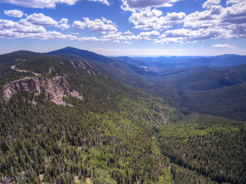 Drone shot near the base of Mt Evans