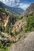 On the Mineral Creek Trail. Uncompahgre River down below.